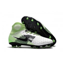 Nike Magista Obra 2 FG Firm Ground Football Boot White Black Green