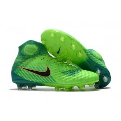 Nike Magista Obra 2 FG Firm Ground Football Boot Green Blue