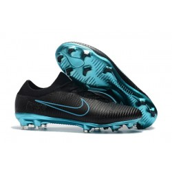 Nike Mercurial Vapor Flyknit Ultra FG New Football Shoes - Black Blue
