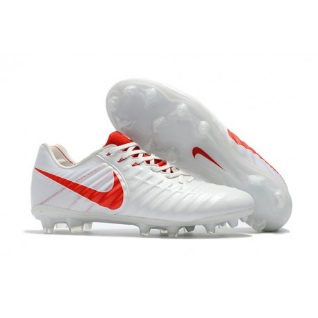 Nike Tiempo Legend VII FG Mens Firm Ground Boots - White Red