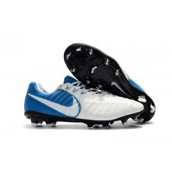 Nike Tiempo Legend VII FG Mens Firm Ground Boots - White Blue