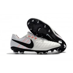 Nike Tiempo Legend 7 FG Leather Soccer Cleats White Black
