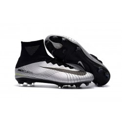 New Mens Nike Mercurial Superfly V FG Cleats Silver Black