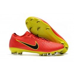 Nike Mercurial Vapor Flyknit Ultra FG New Football Shoes - Red Yellow