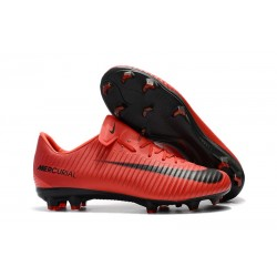 Nike Mercurial Vapor XI FG Men Soccer Boots Red Black