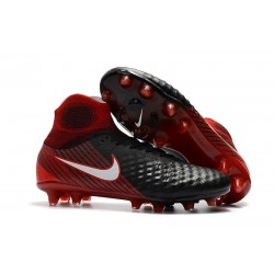 Nike Magista Obra 2 FG Firm Ground Football Boot Black Crimson