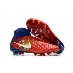 Nike Magista Obra 2 FG Firm Ground Football Boot Barcelona Red