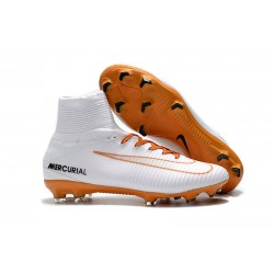 Nike Mercurial Superfly 5 FG ACC Soccer Boots - White Orange