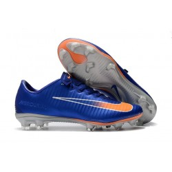 New Nike Mercurial Vapor 11 FG ACC Football Shoes - Blue Orange