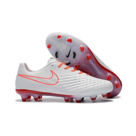 Nike Magista Opus 2 FG Mens Soccer Shoes White Orange