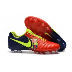 Nike Tiempo Legend 7 FG Leather Soccer Cleats Barcelona Red