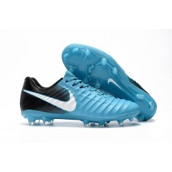 Nike Tiempo Legend 7 FG Leather Soccer Cleats Blue White