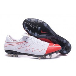 Rooney Nike Hypervenom Phinish 2 FG Mens Soccer Boot White Red