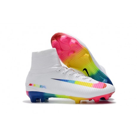 Nike Mercurial Superfly 5 FG ACC Soccer Boots - White Colourful