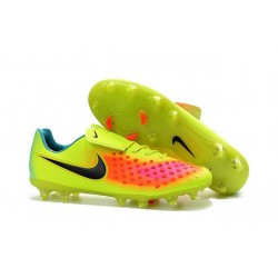 Nike Magista Opus II FG Mens Firm Ground Soccer Shoes Yellow Orange Black