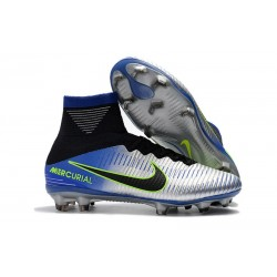 Neymar Nike Mercurial Superfly 5 FG ACC Soccer Boots - Chrome Blue Black
