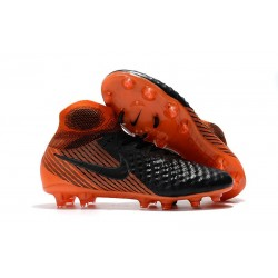 Nike Magista Obra II FG ACC Soccer Cleats Black Orange