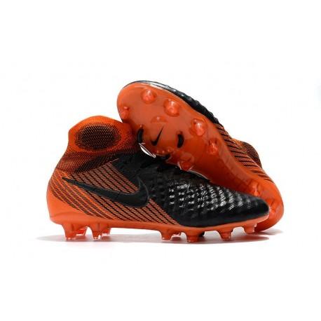 Nike Magista Obra II FG ACC Soccer Cleats Black Orange