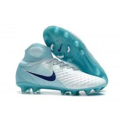 Nike Magista Obra II FG ACC Soccer Cleats White Blue