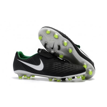Nike Magista Opus II FG Mens Football Boots Black White Green