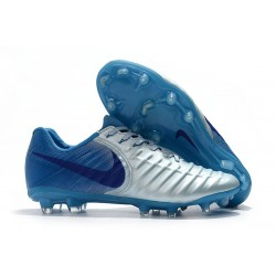 Nike Tiempo Legend VII Elite FG New Football Boots - Silver Blue