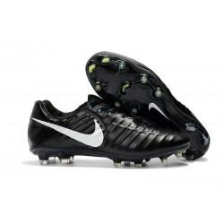 Nike Tiempo Legend VII Elite FG New Football Boots - Black White