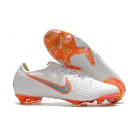 Nike Mercurial Vapor XII Elite Mens Football Boots White Orange