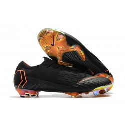Nike Mercurial Vapor XII Elite Mens Football Boots Black Orange