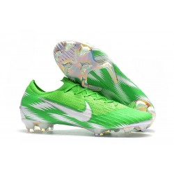 Nike Mercurial Vapor XII Elite Mens Football Boots Green Silver
