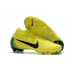 New Nike Mercurial Superfly 6 Elite FG Cleats - Yellow Black