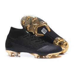 Nike Mercurial Superfly VI Elite FG Soccer Shoes - Black Gold