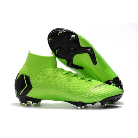 Nike Mercurial Superfly 6 Elite FG Football Cleat - Green Black