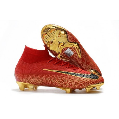 Nike Mercurial Superfly 6 Elite FG Football Cleat - Red Golden