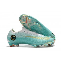 Nike Mercurial Vapor XII CR7 Elite Mens Football Boots White Blue Golden