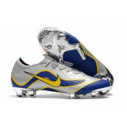 Nike Wolrd Cup Mercurial Vapor 12 Elite FG Cleats - Silver Blue Yellow