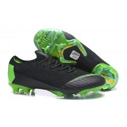 Nike Wolrd Cup Mercurial Vapor 12 Elite FG Cleats - Black Green