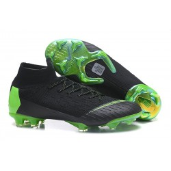 Nike Mercurial Superfly 6 Elite FG Football Cleat - Black Green