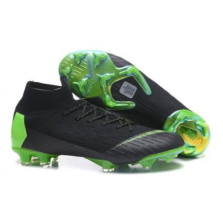 Nike Mercurial Superfly 6 Elite FG Football Cleat - Black Green