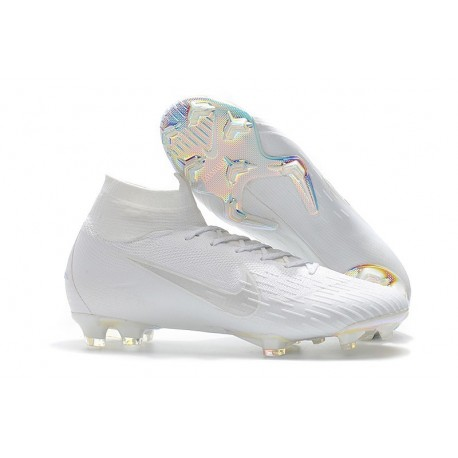 Nike Mercurial Superfly 6 Elite FG Football Cleat - White
