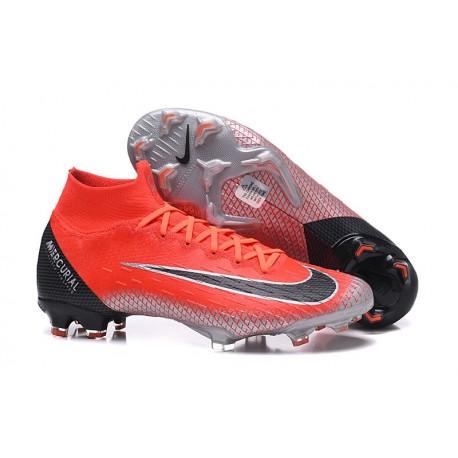 Ronaldo Nike Mercurial Superfly VI Elite ACC CR7 FG Boots - Crimson Black