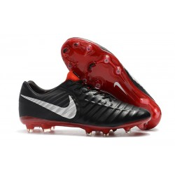Nike Tiempo Legend VII Elite FG New Soccer Boots - Black Red