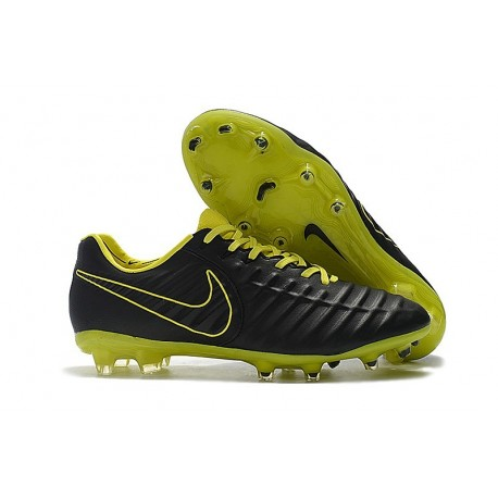 Nike Tiempo Legend VII Elite FG New Soccer Boots - Black Yellow