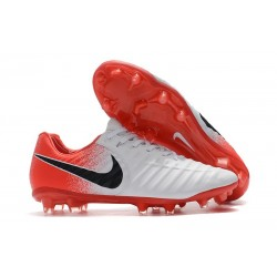 Nike Tiempo Legend 7 Elite FG Firm Ground Cleats - White Red