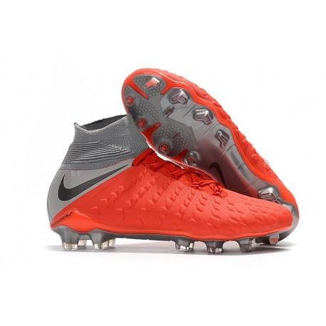 Nike Hypervenom Phantom III Dynamic Fit FG - Red Gray