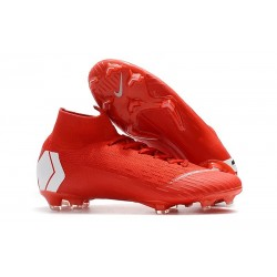Nike Mercurial Superfly VI Elite ACC FG Boots - Red White