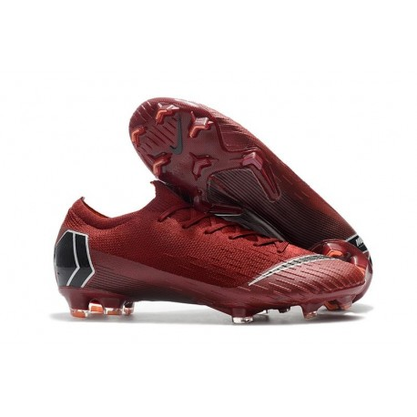 Nike Mercurial Vapor XII Elite FG New Soccer Boots - Red Black
