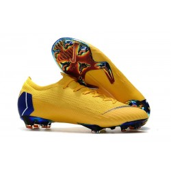 Nike Mercurial Vapor XII Elite FG New Soccer Boots - Yellow Blue