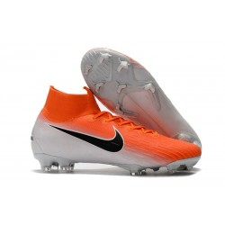 Nike Mercurial Superfly VI Elite ACC FG Boots - Orange White Black