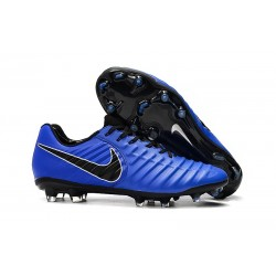 Nike Tiempo Legend 7 Elite FG Firm Ground Cleats - Blue Black