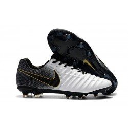 Nike Tiempo Legend 7 Elite FG Firm Ground Cleats - White Black